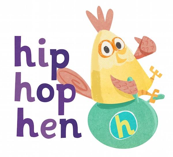 hip hop hen logo