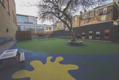 The school playground at Manresa Road